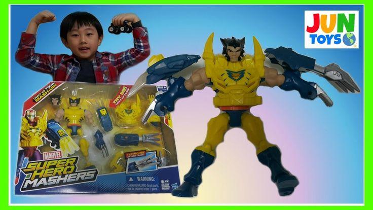 marvel super hero mashers wolverine unboxing