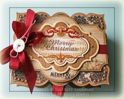 View of Christmas Box top designed by Beate Johns using Muscial Notes Labels Twenty.