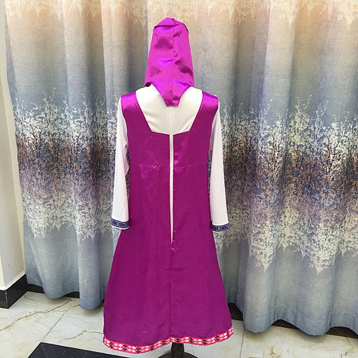 roupa da masha and bear clothing costume for kids masha y el oso cosplay party decoration childrens fancy dress anime onesie
