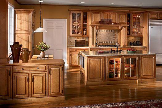 Maple Kitchen Cabinets | courtney maple in butter rum glaze finish courtney maple malt glaze ...