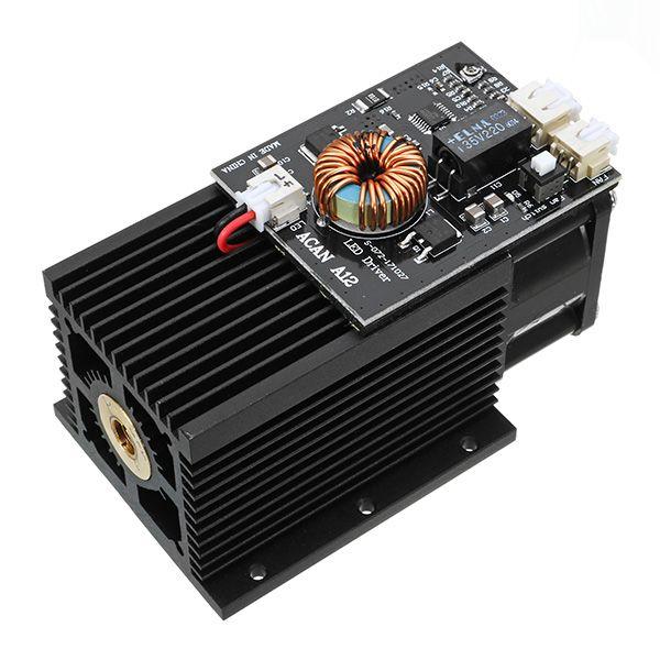 445-450nm 15W Azul Láser Marca de módulo en metal para DIY Láser Grabadora