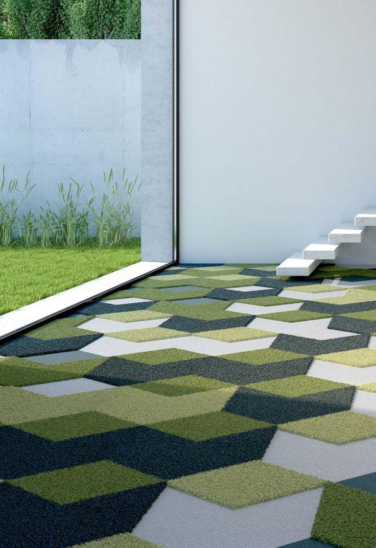 Carpeting / rug DARTS DIAMONDS - Vorwerk & Co. Teppichwerke #green
