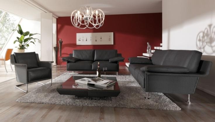 Sessel ALTO SWING mit sofas MADISON 200, MADISON 220 und couchtisch CARLTON
