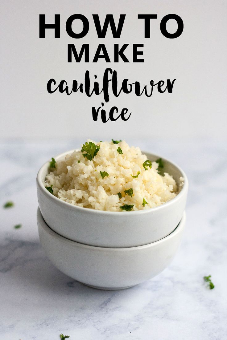 How to Make Cauliflower Rice | A quick and easy how to recipe that lists 3 different ways to make cauliflower rice, perfect for any budget or skill level. Cauliflower rice, or riced cauliflower, is naturally gluten free. It's an excellent low carb and keto swap for white rice.