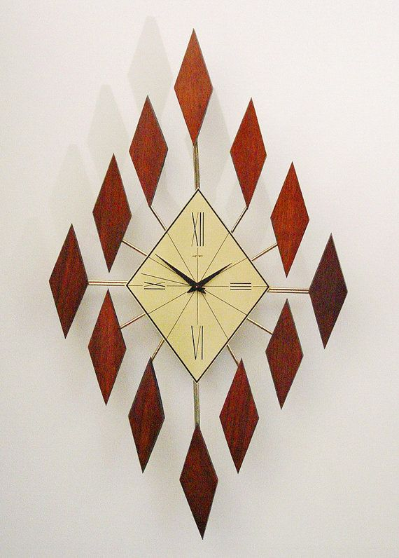 Diamond Design Wall Clock : Best images about mid century modern art on