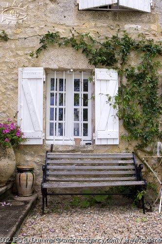 Rustic shutters inexpensive and perfect authentic for Rustic french country exterior