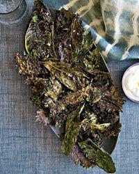 Crispy Kale with Lemon-Yogurt Dip Recipe on Food & Wine