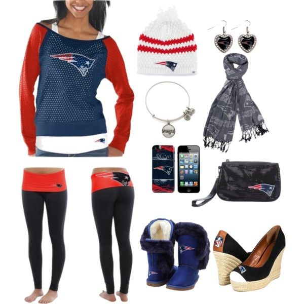 """New England Patriots Head to Toe Gameday Look"" by fanatics on Polyvore"