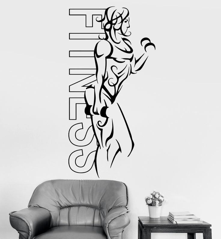 Wall Decal Sport Woman Fitness Crossfit Female Decor Unique Gift (z3227)