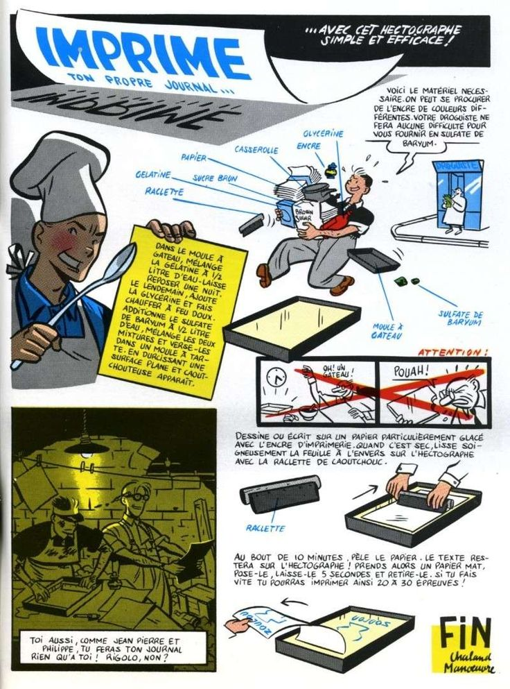 Imprime ton propre journal… Chaland (Print your own newspaper…)