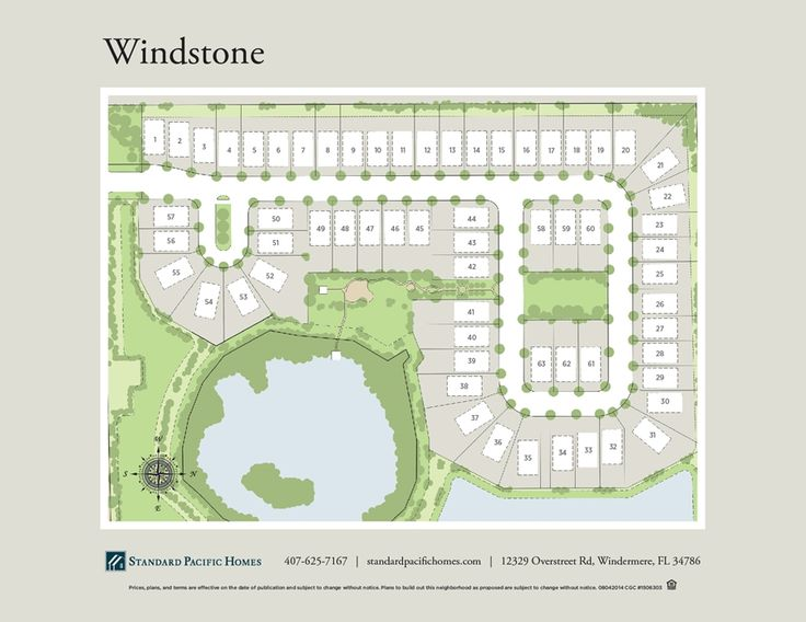 Windstone Map- Windermere by Standard Pacific Homes