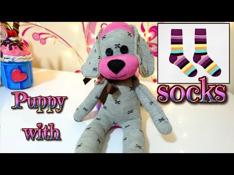 DIY: how to make a puppy dog with socks   easy crafts   Isa ❤️ - YouTube