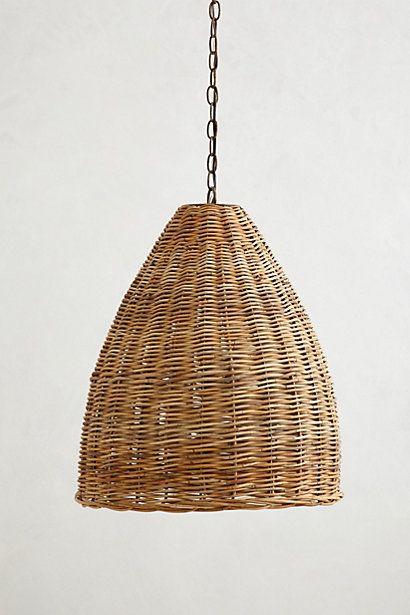 Someone needs to weave some willow baskets to sell as light shades to sell at the farmer's market. This one sells for almost $800 at Anthropology!