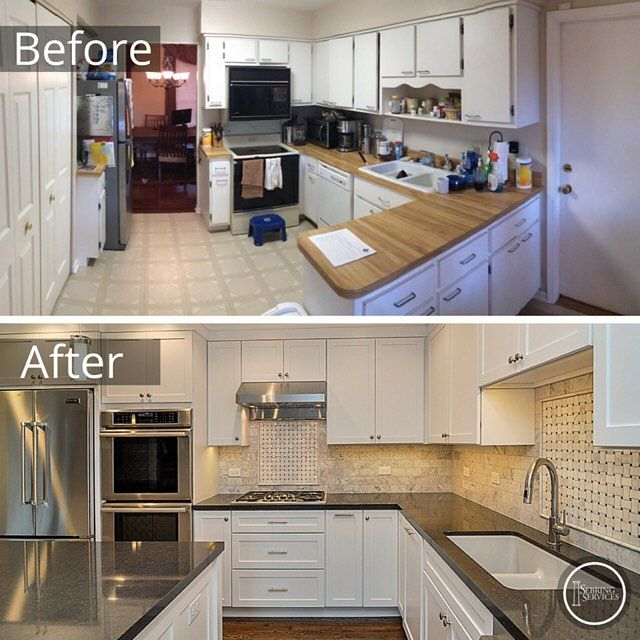 Remodeled Kitchens Before And After Decoration Classy Design Ideas