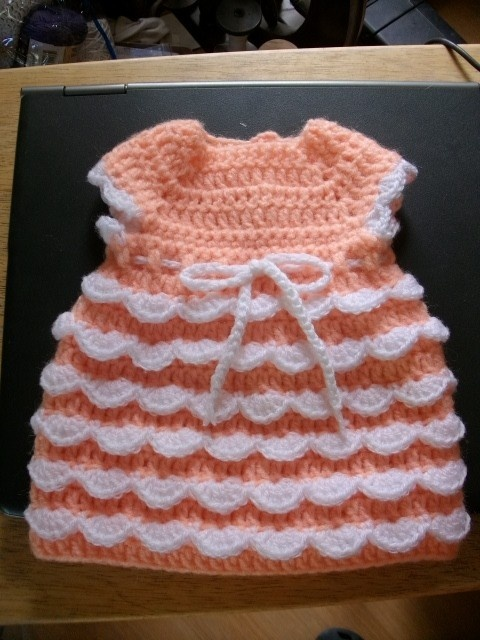 Crochet doll dress pattern