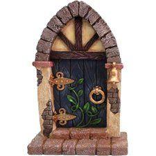 Fairy Mini Garden Door with Bell and Vines