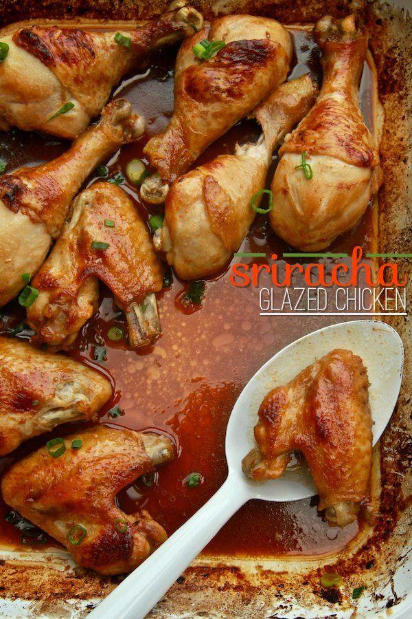 Sriracha Glazed Chicken | Blogger Recipes We Love | Pinterest