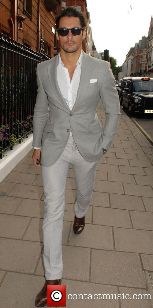 Men's street fashion | David Gandy | LCM Spring/Summer 2015: The Rake Magazine and Claridge's Party