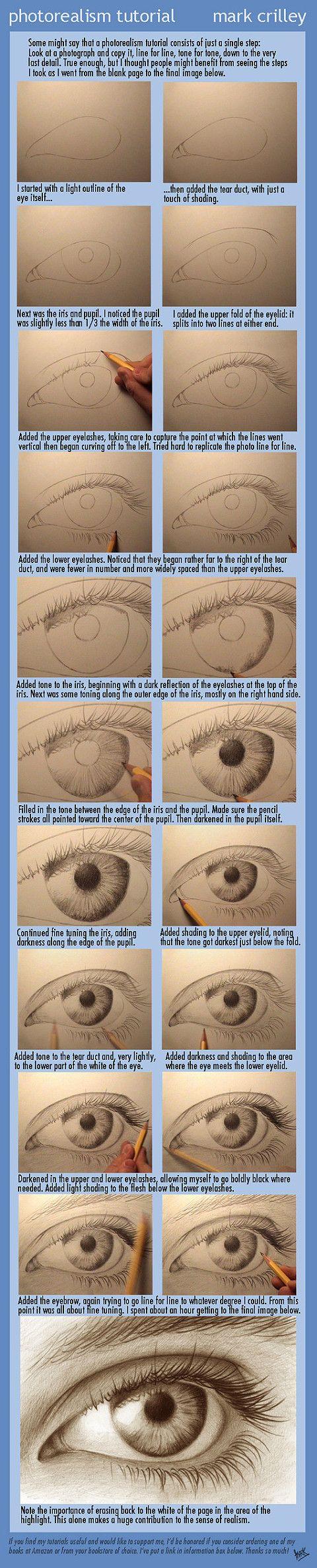 Drawing a realistic eye...!