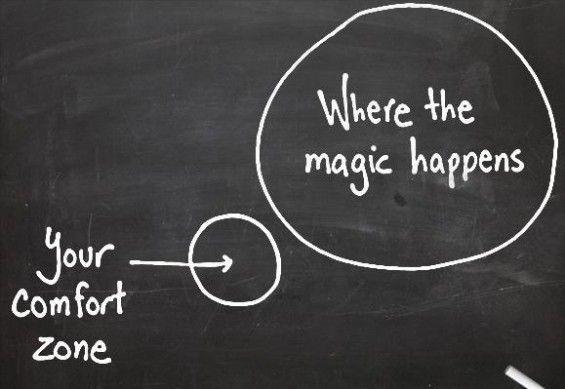 Sortez de votre zone de confort #quote