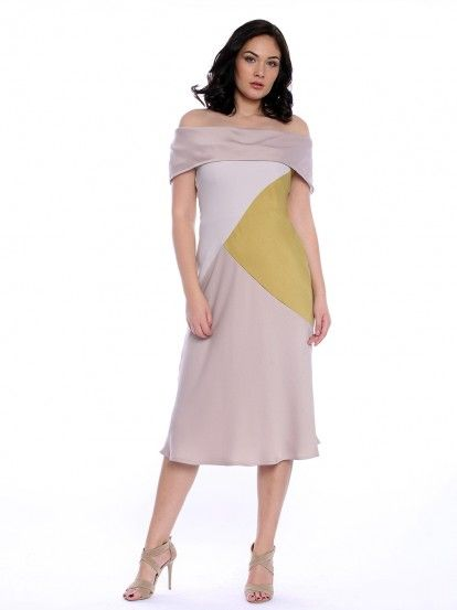 35936042854b Dámske elegantné šaty VERA RAVENNA - béžová