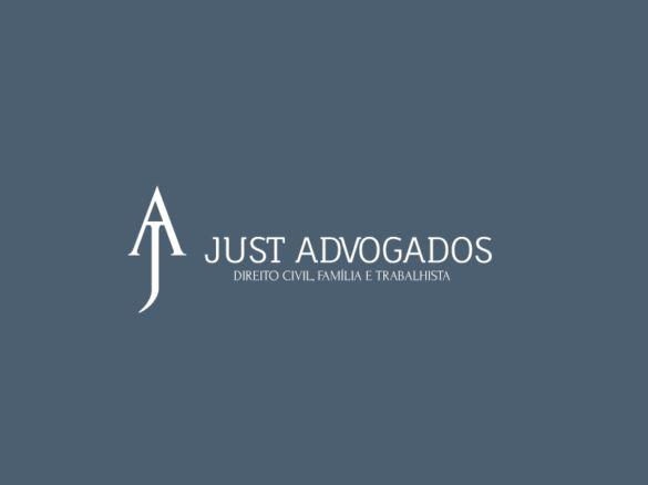 Criação de logotipo para o escritório de advocacia just advogados.