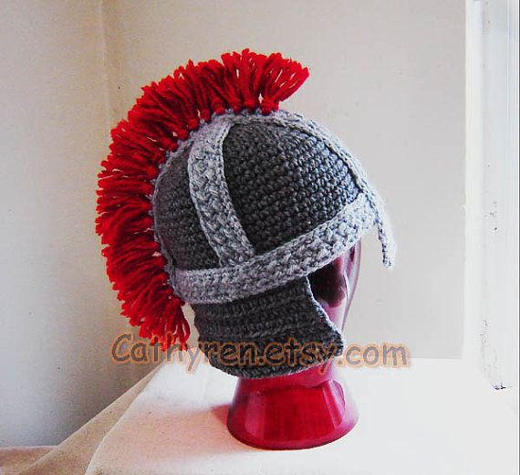 Roman Soldier Helmet, Greek soldier Helmet, Sizes Baby - Adult (Instant Downloadable Tutorial Crochet PDF Pattern) $4.50