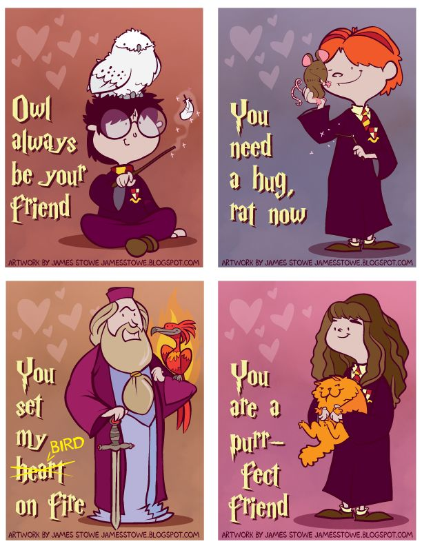 Harry Potter (bad pun) Valentines