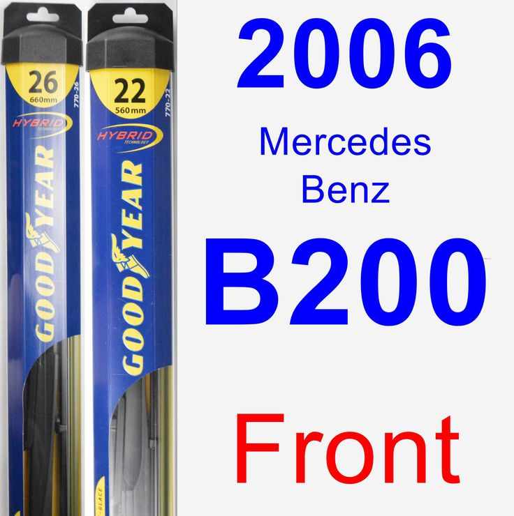 Front Wiper Blade Pack for 2006 Mercedes-Benz B200 - Hybrid