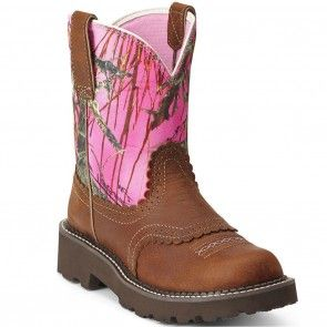 10012827 Ariat Women's Fatbaby Camo Western Boots - Copper www.bootbay.com