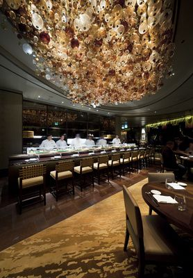 This is just breathtaking. Nobu Perth lighting design.