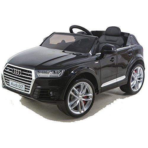 simron Audi Q7 Quattro SUV Elektro Kinderauto Kinderfahrzeug Ride-On 12V Kinder Elektroauto schwarz
