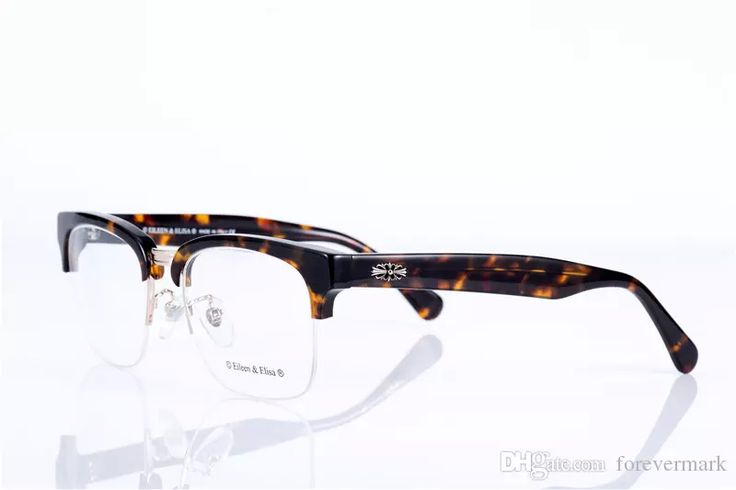 High Quality Prescription Eyeglasses Semi-Rim Frame Glasses With Box Reading Myopia Glasses Optical Glasses Frame Myopia Eyeglasses Frames Prescription Glasses Frames Clear Lens Reading Glasses Online with $66.29/Piece on Forevermark's Store   DHgate.com