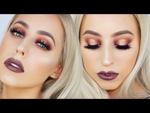 Tarte Tarteist Pro Palette Makeup Tutorial | Purple Gold Halo Eye - YouTube