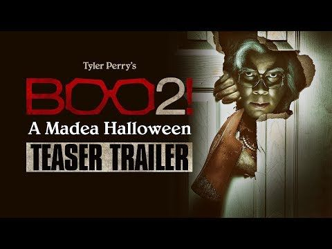 """Boo 2! A Madea Halloween (2017 Movie) Official Teaser Trailer """"Peek-A BOO BOO!"""" – Tyler Perry   In theaters October 20, 2017. Starring Cassi Davis, Patrice Lovely, Yousef Erakat, Lexy Panterra, Andre Hall, Diamond White, Brock O'Hurn, Tito Ortiz, and Tyler Perry.   Lionsgate Movies"""