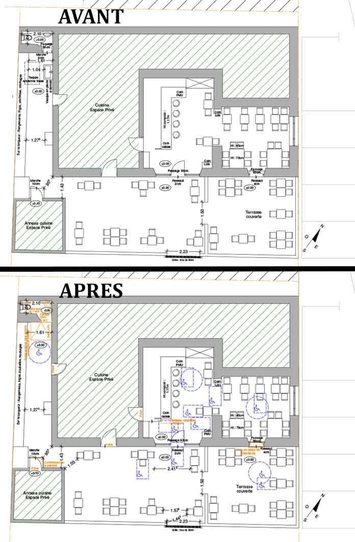 Accessibilite Handicape Bar Brasserie Althen Brasserie Plan Cadastral La Securite Incendie