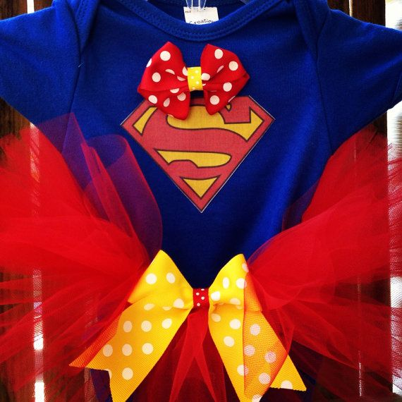 Superman Baby Costume made to order sizes 03mo 36mo by Layne2010