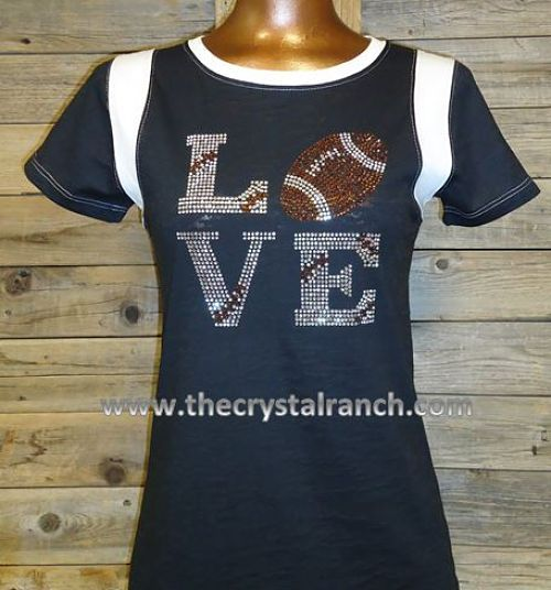 Football Love Tee~ can I get one in Scarlett and Grey