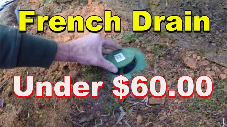 Do it Yourself, French Drain, Under $60.00 - YouTube ...
