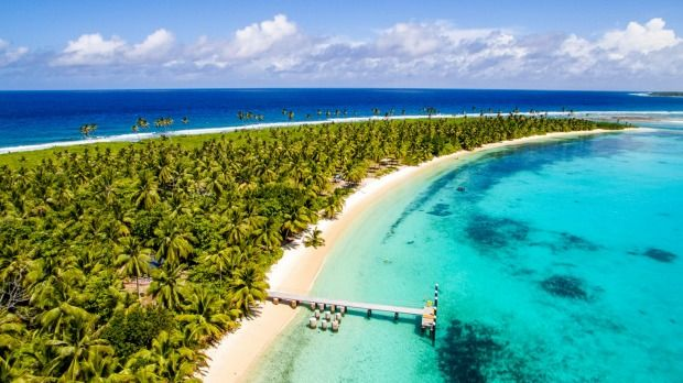 Cossies Beach, Cocos (Keeling) Islands.Photo: Rik Soderlund