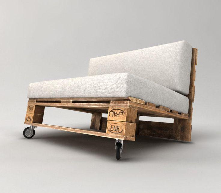 9 besten diy paletten sofa bilder auf pinterest - Palettensofa bauen ...