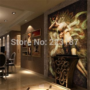 110.00$  Watch now - http://aliuh7.shopchina.info/go.php?t=976681991 - home decor 3D large ,wall stickers wall paper Mural oil painting wallpaper fashion entranceway personalized hot-selling 110.00$ #shopstyle