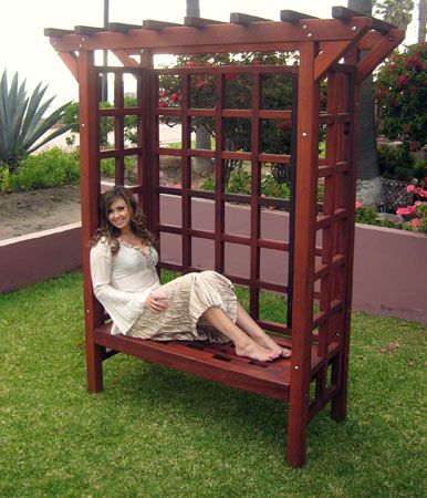Super 49 best Bench and Arbor images on Pinterest | Garden deco, Play  YH35