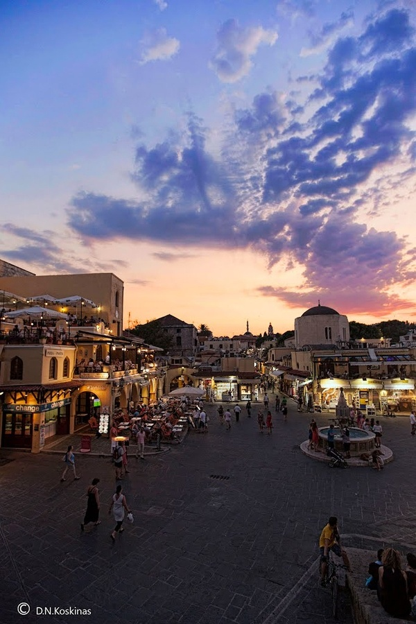 Hippocrates Square   Rhodes, Greece
