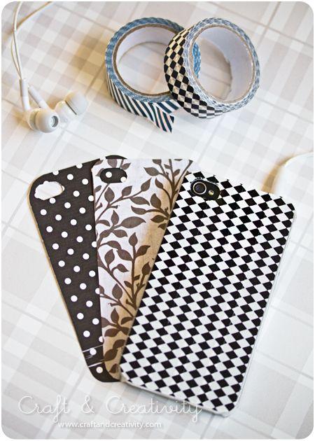 Mobiel hoesje pimpen washi tape pinterest 4s cases for Washi tape phone case