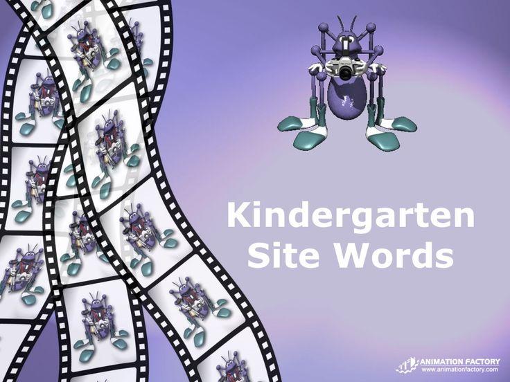 kindergarten-site-words by polomisj via Slideshare