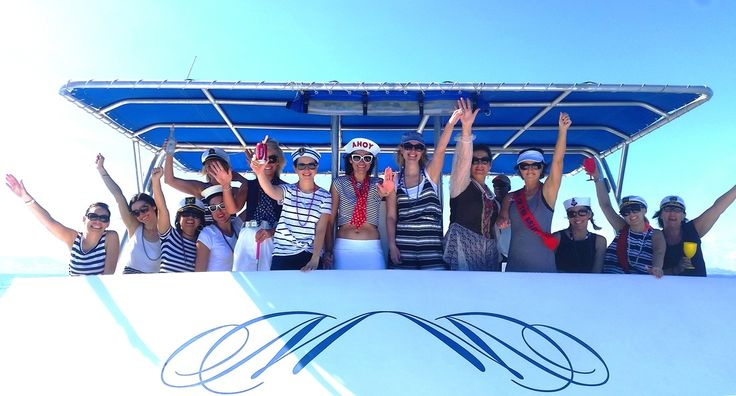 Fiji Hens Party charter boat