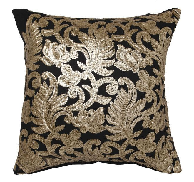 Davinci Bolero 41x41cm Filled Cushion Gold