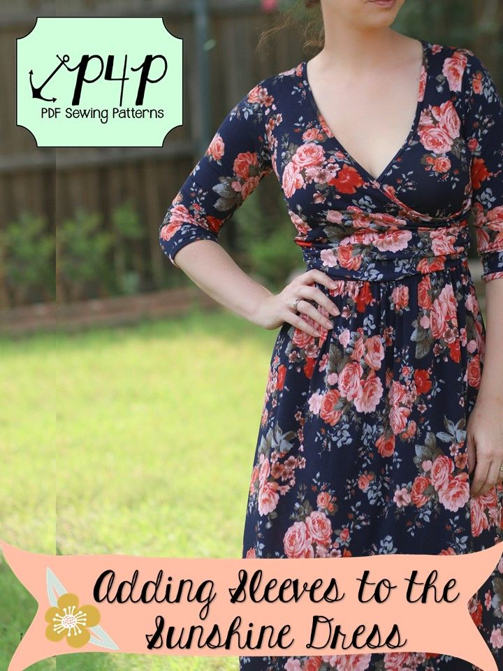 adding sleeves to a tank Sewing How To DIY Tutorial- Patterns for Pirates P4P PDF sewing pattern