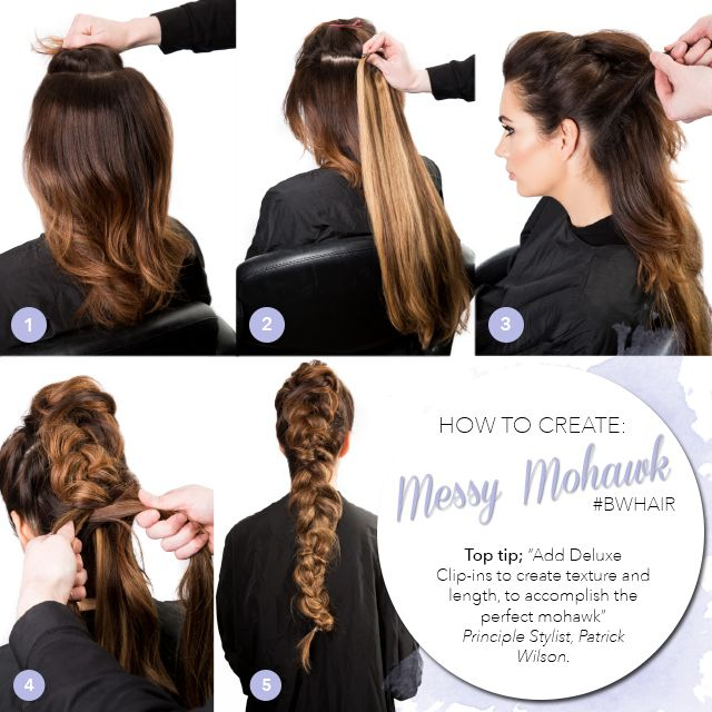 Get the Look Braided Faux Mohawk